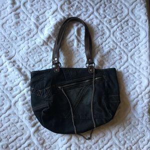 Express denim purse